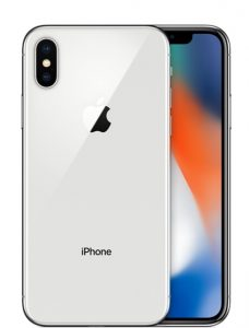 iPhone X 64GB, 64 GB, Silver