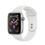 Watch Series 4 Aluminum Cellular (40mm), Silver, White Sport Band