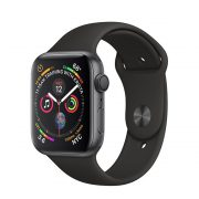 Watch Series 4 Steel Cellular (40mm), Space Gray, Black Sport Band