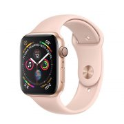Watch Series 4 Aluminum Cellular (44mm), Gold, White Sport Band