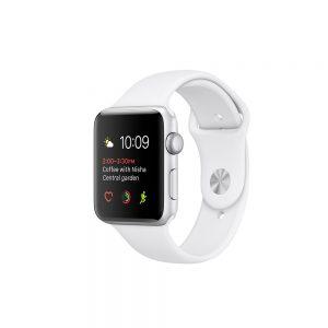 Watch Series 2 Aluminum (42mm), Silver, Pure Platinum/Black Nike Sport Band