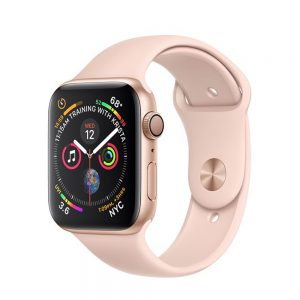 Watch Series 4 Aluminum Cellular (40mm), Gold, Pink Sand Sport Loop